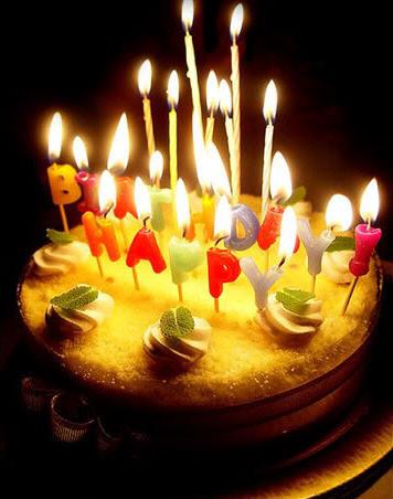 Birthday Cake Shot on Birthday Cake